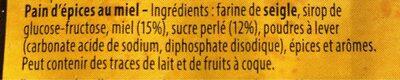 Pain d'epices - Ingrediënten - fr