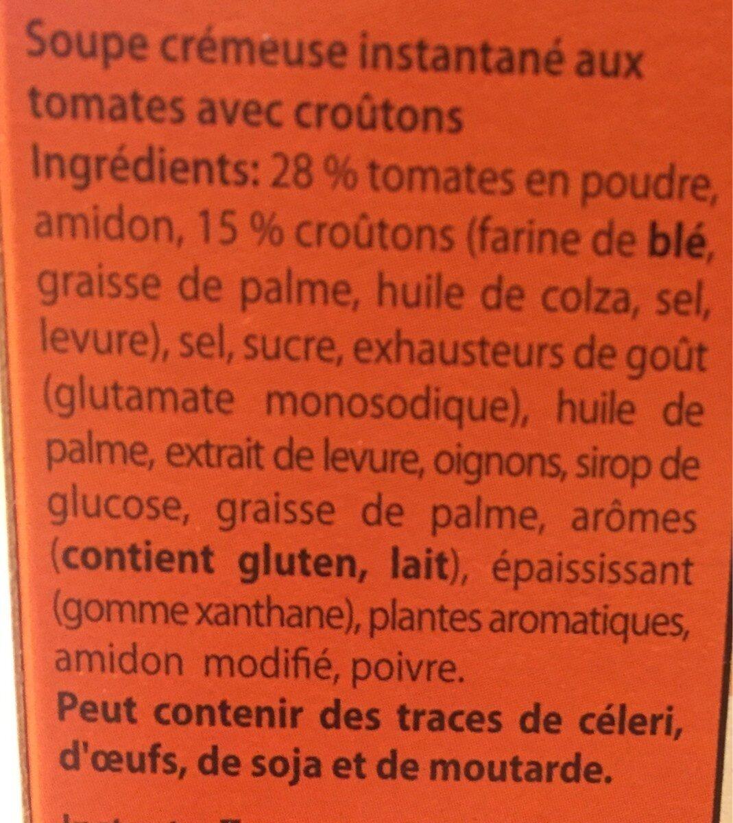 Soupe tomate basilic - Ingredients - fr