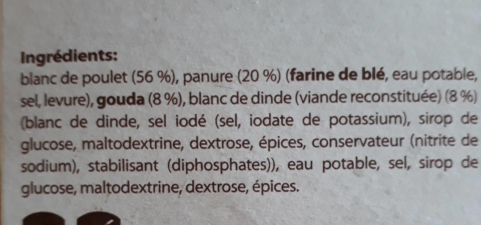 Cordon bleu de poulet - Ingrediënten
