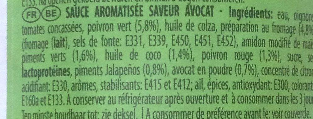 Guacamole saveur - Ingrediënten - fr