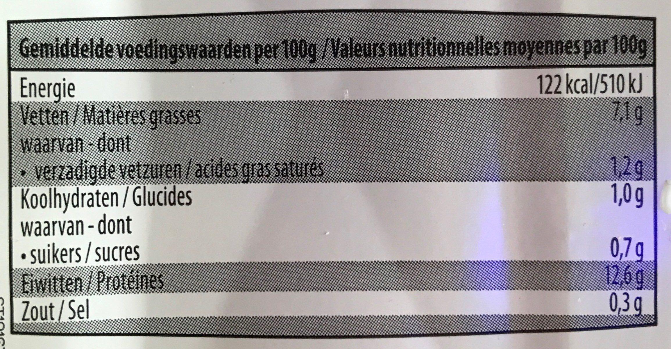 Tofu - Voedingswaarden - fr