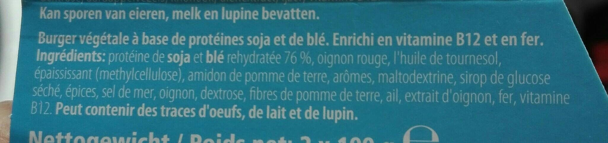 Soy pro boulette - Ingredients