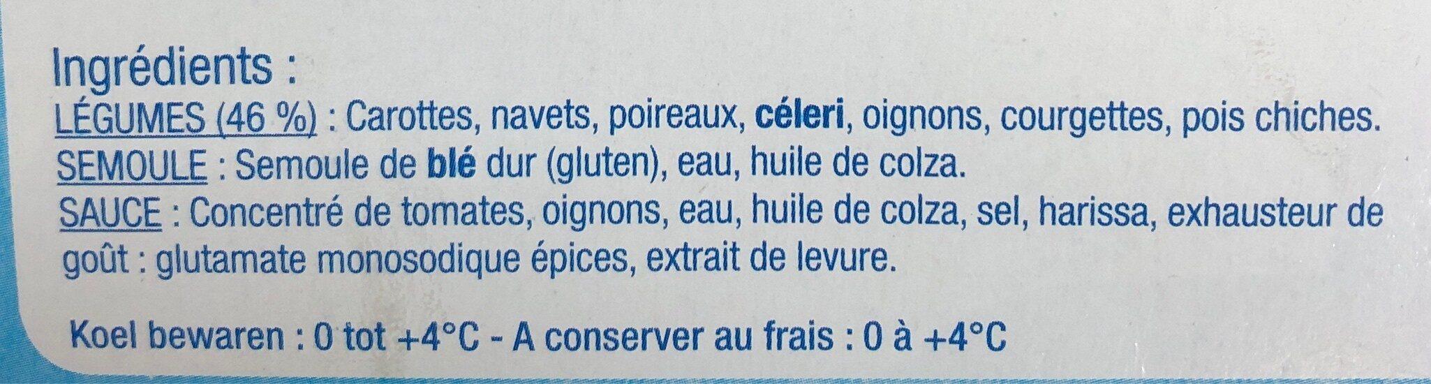 Couscous aux legumes frais - Ingrediënten - fr