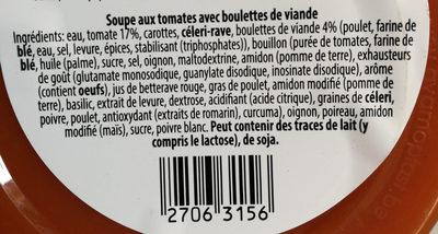 Soupe fraîche authentique - Ingrédients - fr