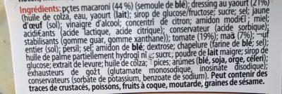 Fusilli veggie - Inhaltsstoffe - fr
