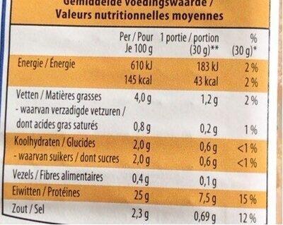 Lamelles poulet précuites Aldi Delifin - Informations nutritionnelles - fr