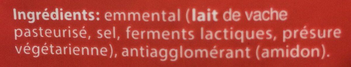 Emmental - Ingrediënten - fr