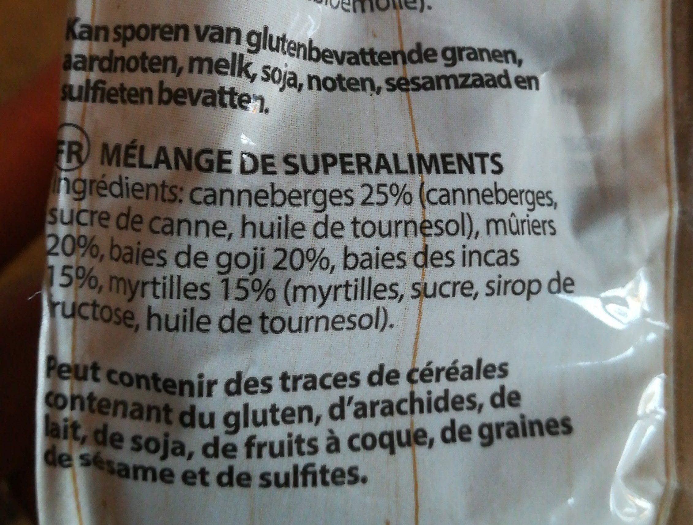 Superfood mix - Ingredients