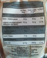 Superfood mix - Nutrition facts