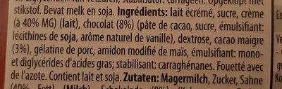 Chocolade mousse au chocolat - Ingrediënten - fr
