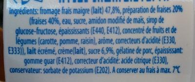 Fromage Frais Maigre fraises - Ingrédients