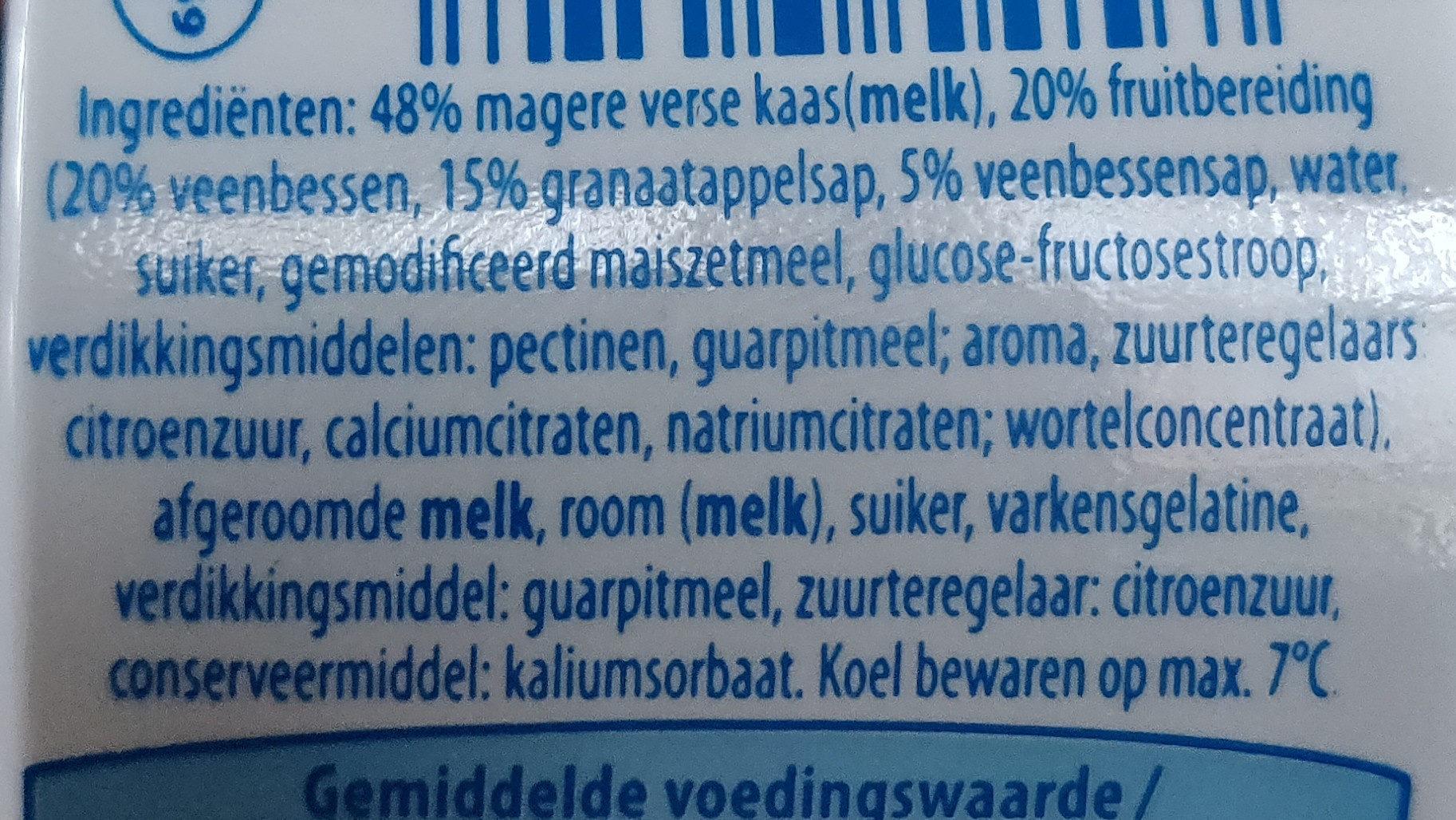 Fromage frais fouetté - Ingrediënten - nl