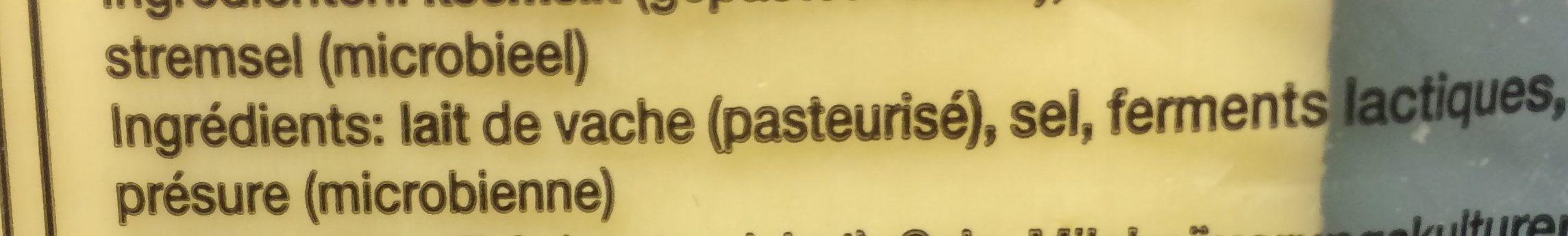 Gouda jeune en tranches, 250gr - Ingrediënten - fr