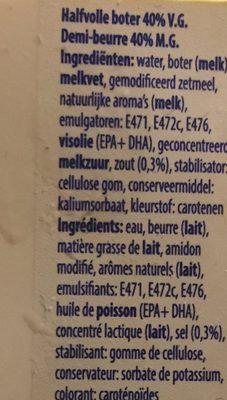 Beurre tartine - Ingrédients