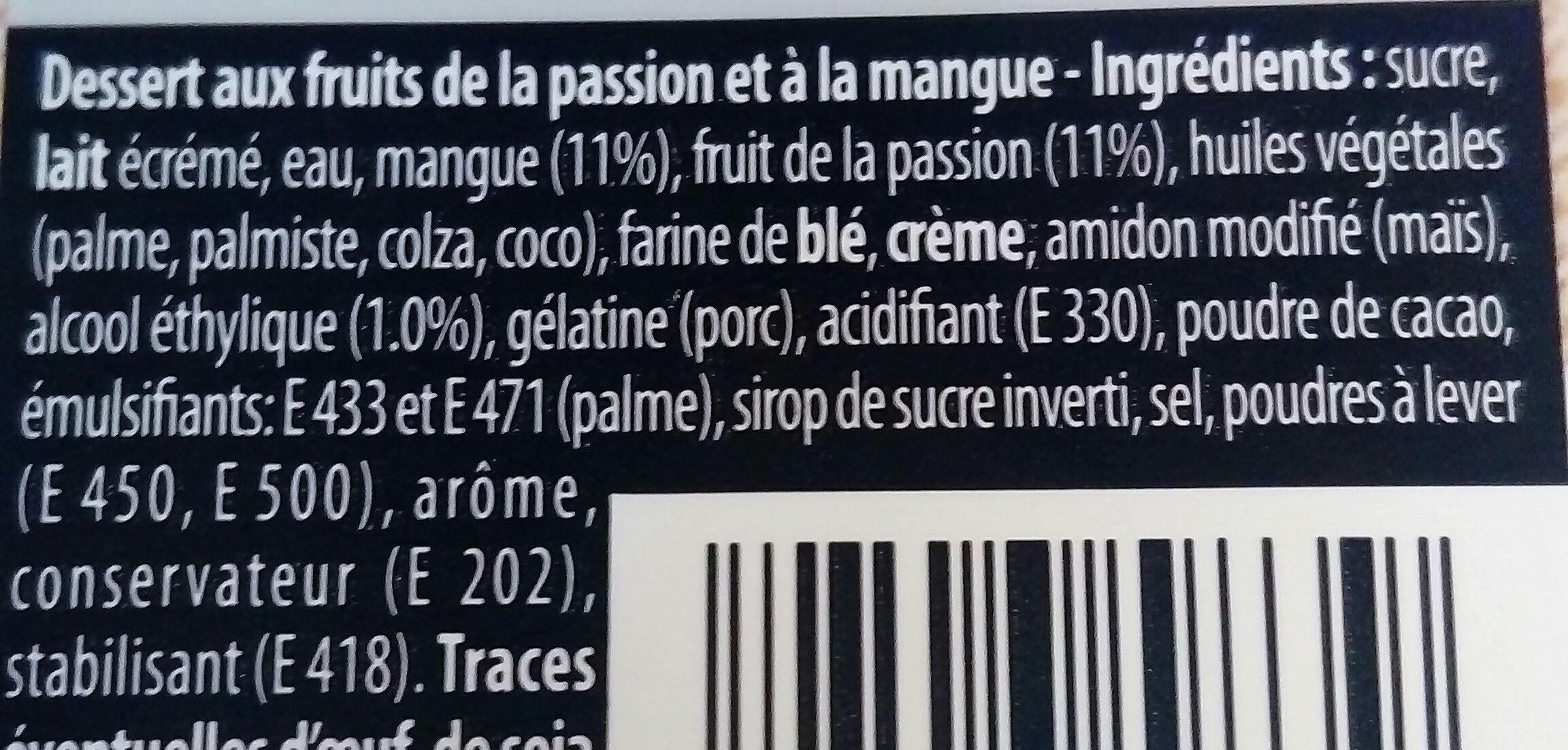Bavarois Double Chocolat - Ingrédients - fr