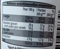 Bavarois Double Chocolat - Informations nutritionnelles - fr
