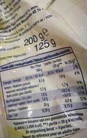 Mozzarella - Ingrédients - fr