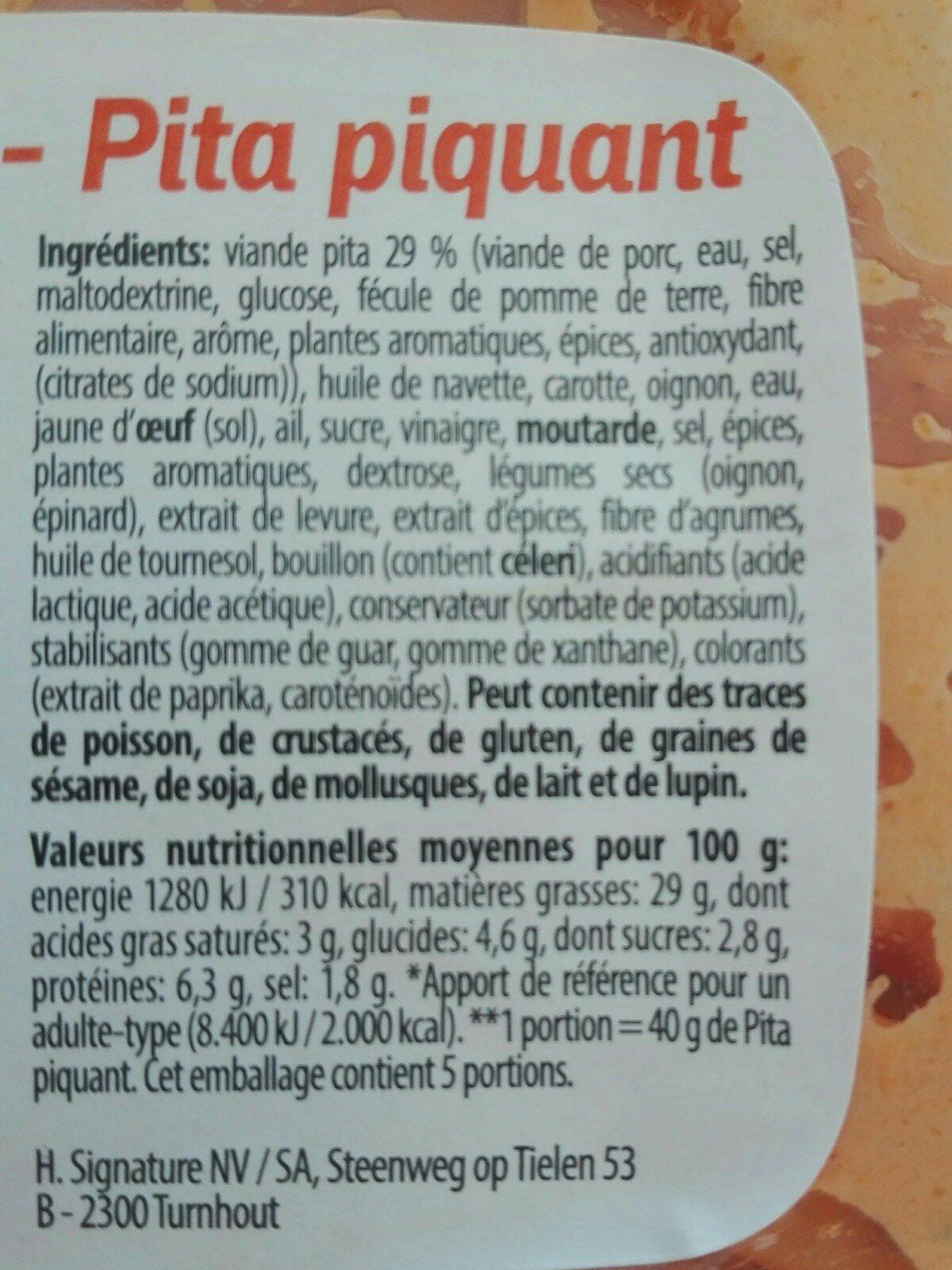 Salade Janbom poireaux Delicato - Ingrediënten - en