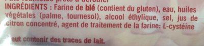 Pate a tarte feuilletee - Ingrediënten - fr