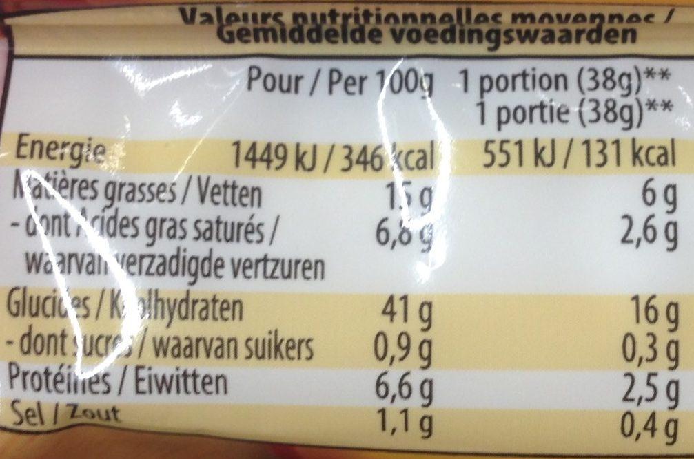 Pate a tarte feuilletee - Voedingswaarden - fr