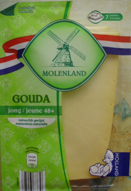 Gouda jeune (29,7 % MG) 7 tranches - Product - fr