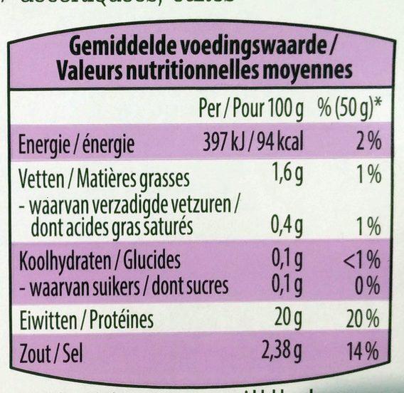Garnalen - Voedingswaarden - fr