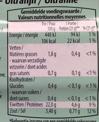 Filet de York - Informations nutritionnelles - fr