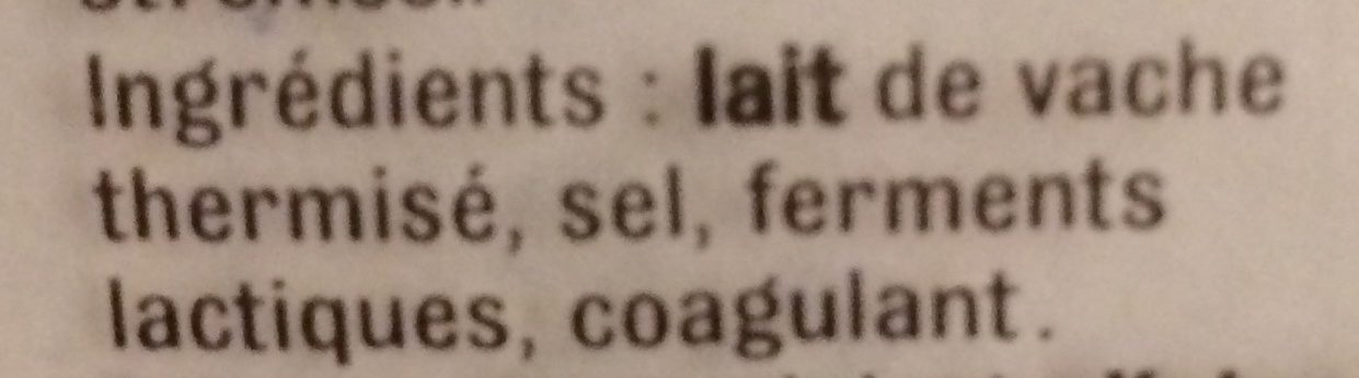 Emmental français 45+ - Ingrediënten - fr