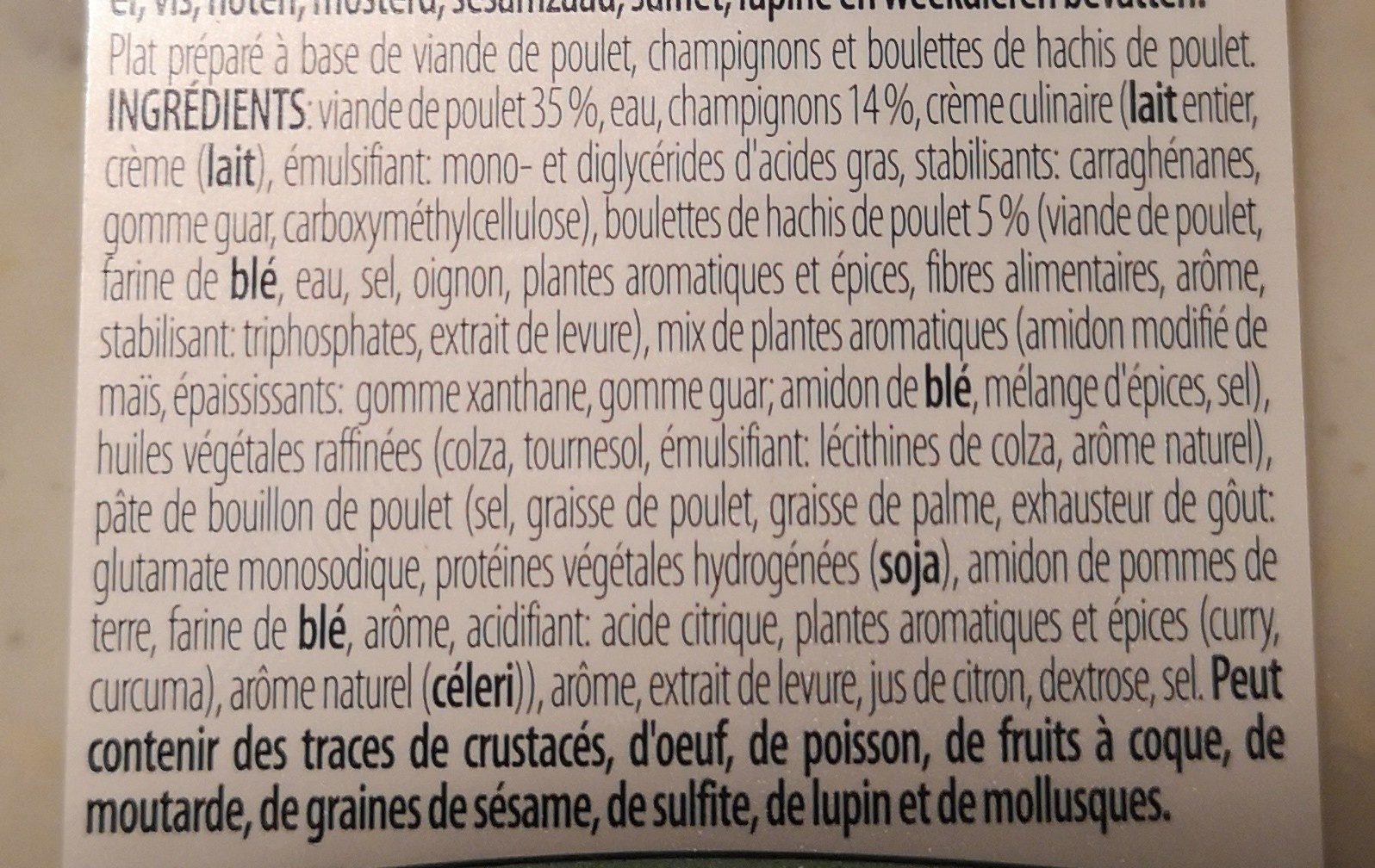 Vol-au-vent - Ingredients - fr