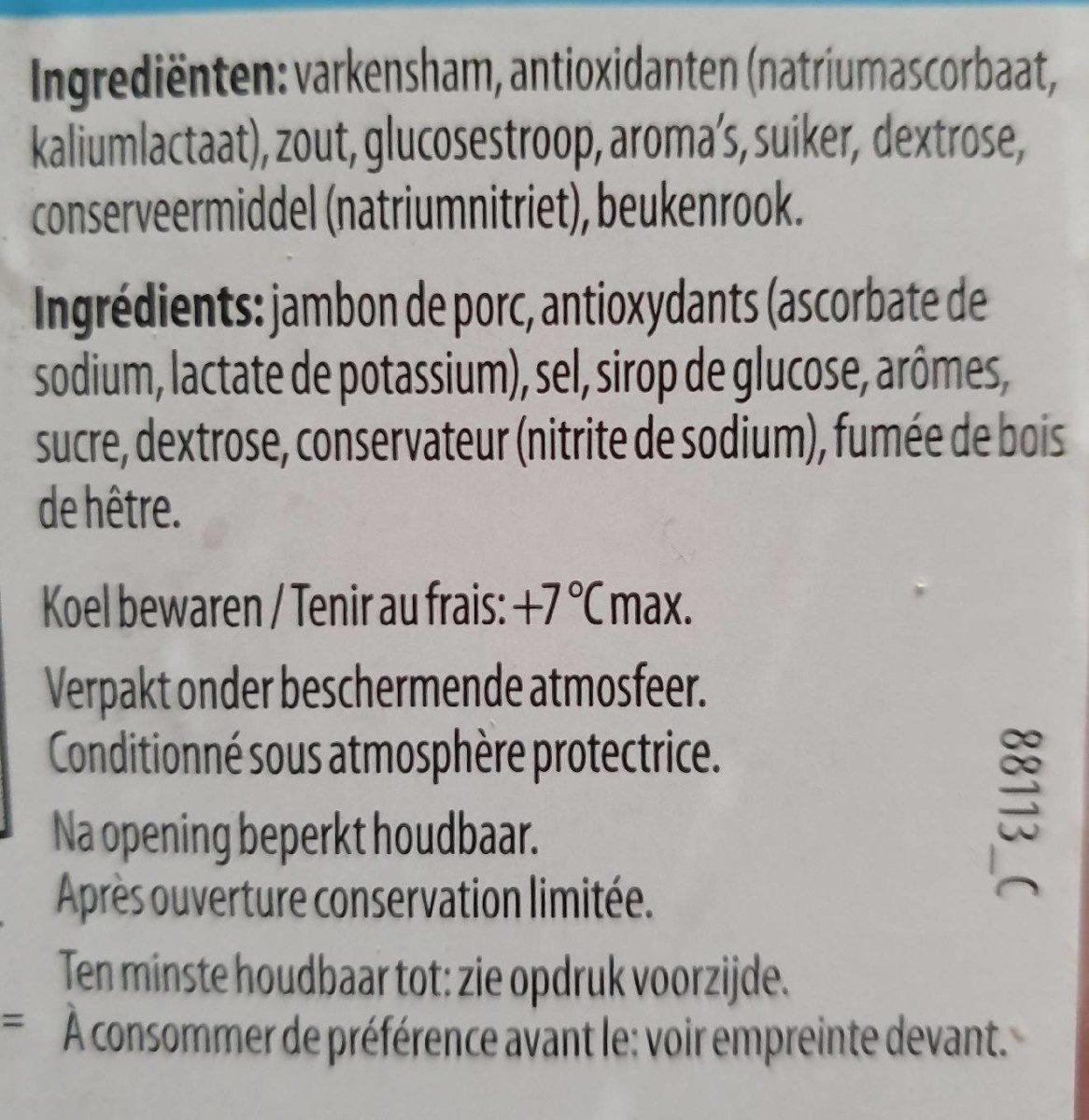 Jambon Degraisse - Ingrediënten - fr