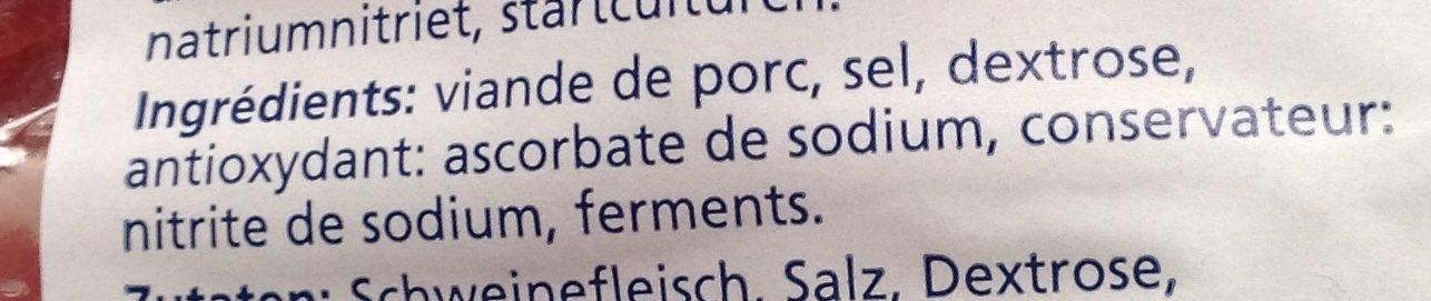 Spekreepjes/Allumettes de lardons - Ingrédients - fr