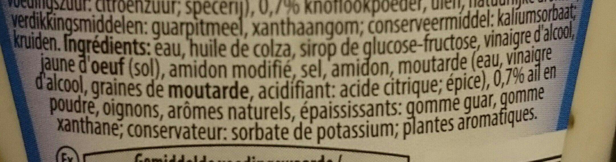 Sauce Aïoli - Ingrediënten - fr