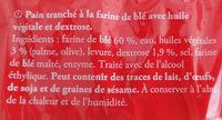 Delipain Pain Toast Complet - Ingrédients - fr