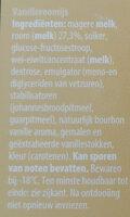 Crème glacée à la vanille - Ingrediënten - nl