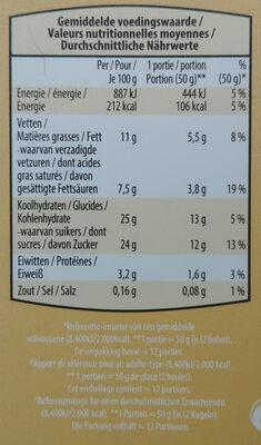 Crème glacée à la vanille - Voedingswaarden - nl