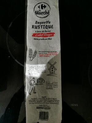 baguette rustique label rouge - Istruzioni per il riciclaggio e/o informazioni sull'imballaggio - fr
