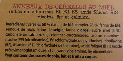 Honey rings - Ingrediënten - fr