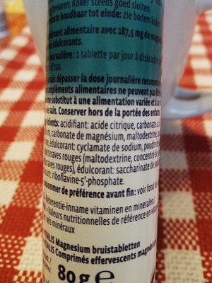 Pastilles magnésium - Ingrediënten