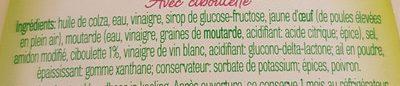 vinaigrette - Ingrediënten