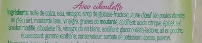 Vinaigrette ciboulette - Ingrédients - fr