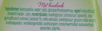 Vinaigrette ciboulette - Ingrediënten - nl