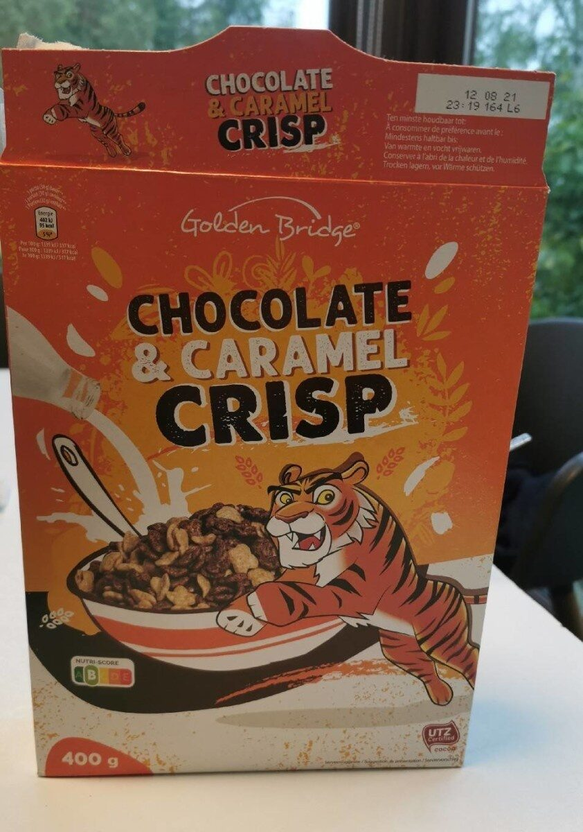 Chocolate & caramel crisp - Product - fr