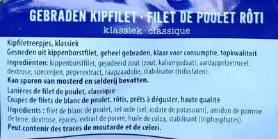 Gebratene Hähnchenbrustfiletstücke - Ingrédients
