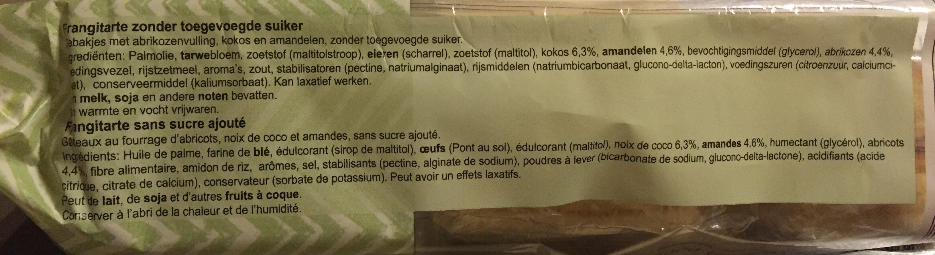 Frangitarte - Ingrediënten
