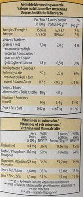 Flocons d'avoine - Nährwertangaben - de