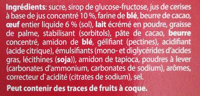 Jaffa cake - Ingrediënten - fr