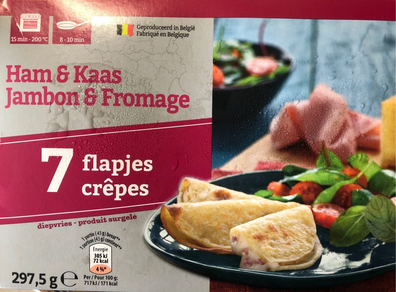Crepes jambon & fromage - Product - fr