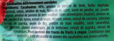 Cacahuètes Emrobées Cocktail - Ingredients - fr