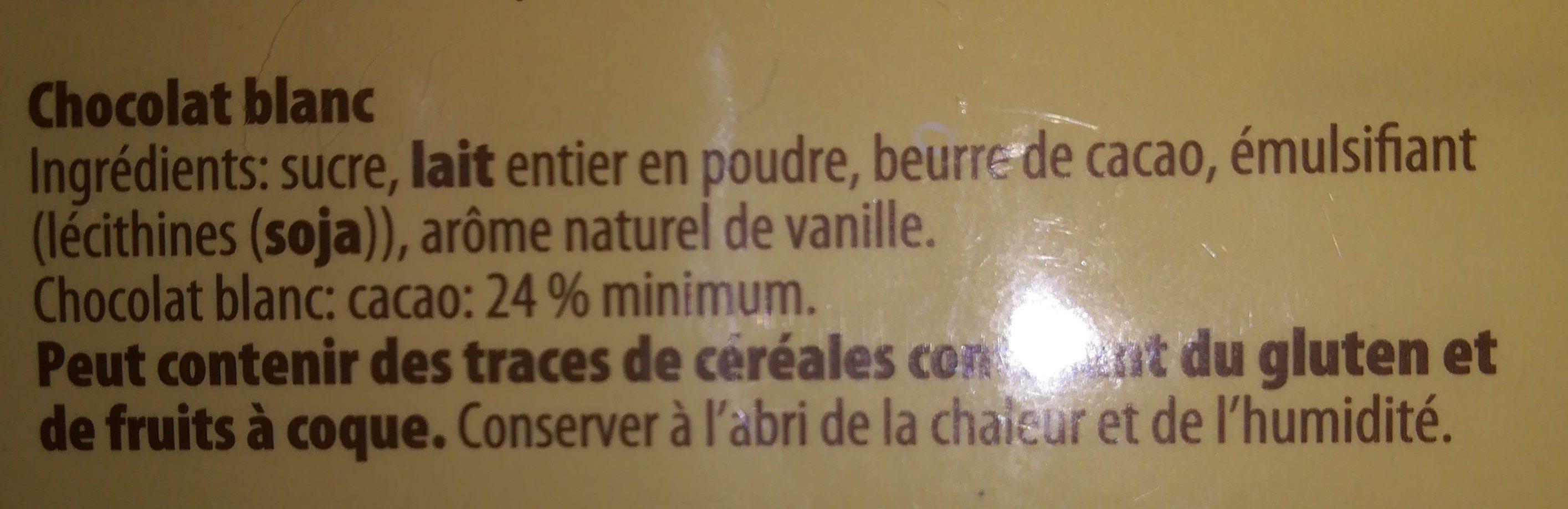 Chocolat blanc riz soufflé - Ingredients - fr