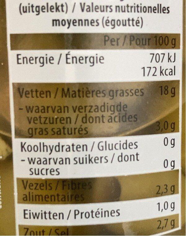 Olives vertes - Voedingswaarden - fr